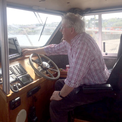 Brian McGilloway Snr. owner and skipper of M.V. Meridian